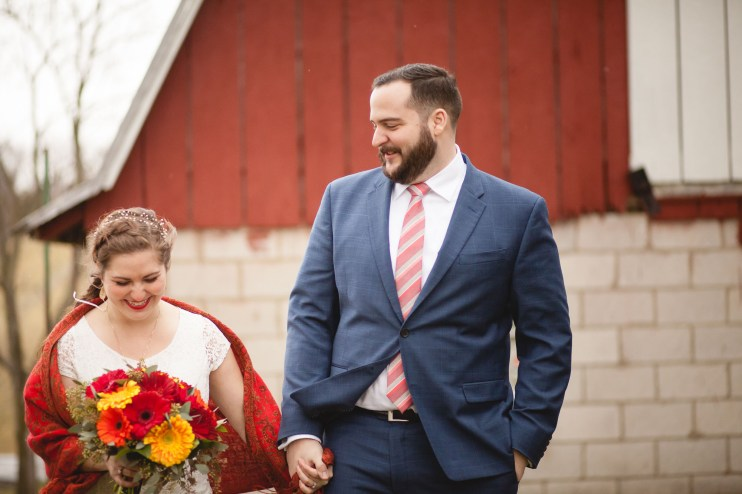 Bright Wedding On a Dreary Day at Linganor Wines 47