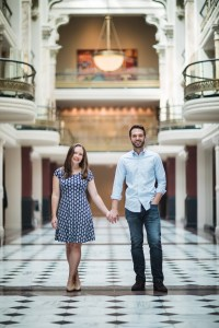 An Engagement Session Through the Halls of the National Portraits Gallery 05