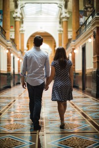An Engagement Session Through the Halls of the National Portraits Gallery 09