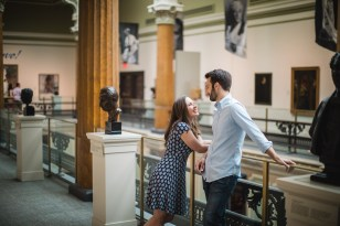 An Engagement Session Through the Halls of the National Portraits Gallery 13