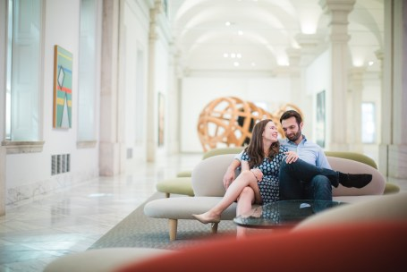An Engagement Session Through the Halls of the National Portraits Gallery 17