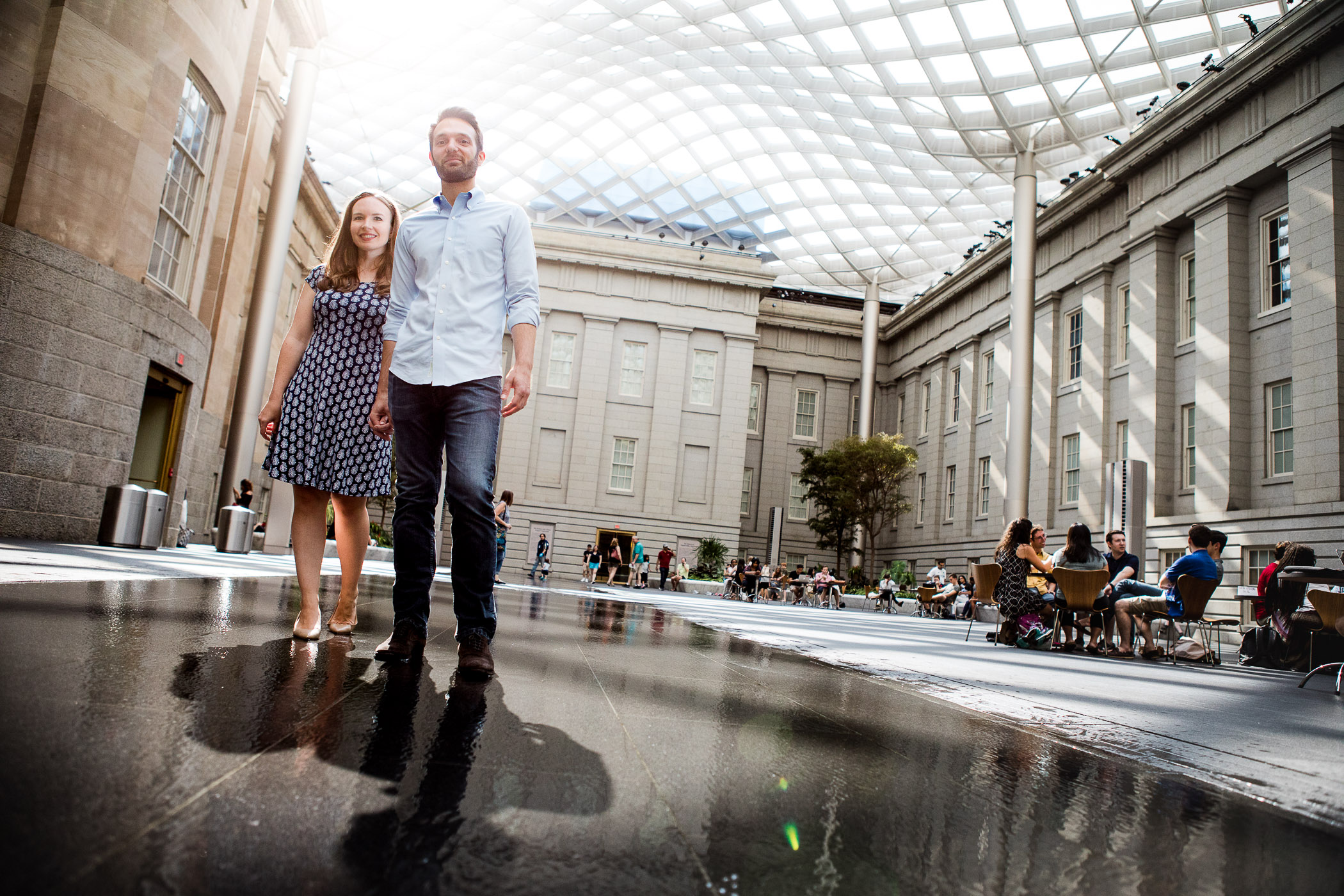 An Engagement Session Through the Halls of the National Portraits Gallery 23