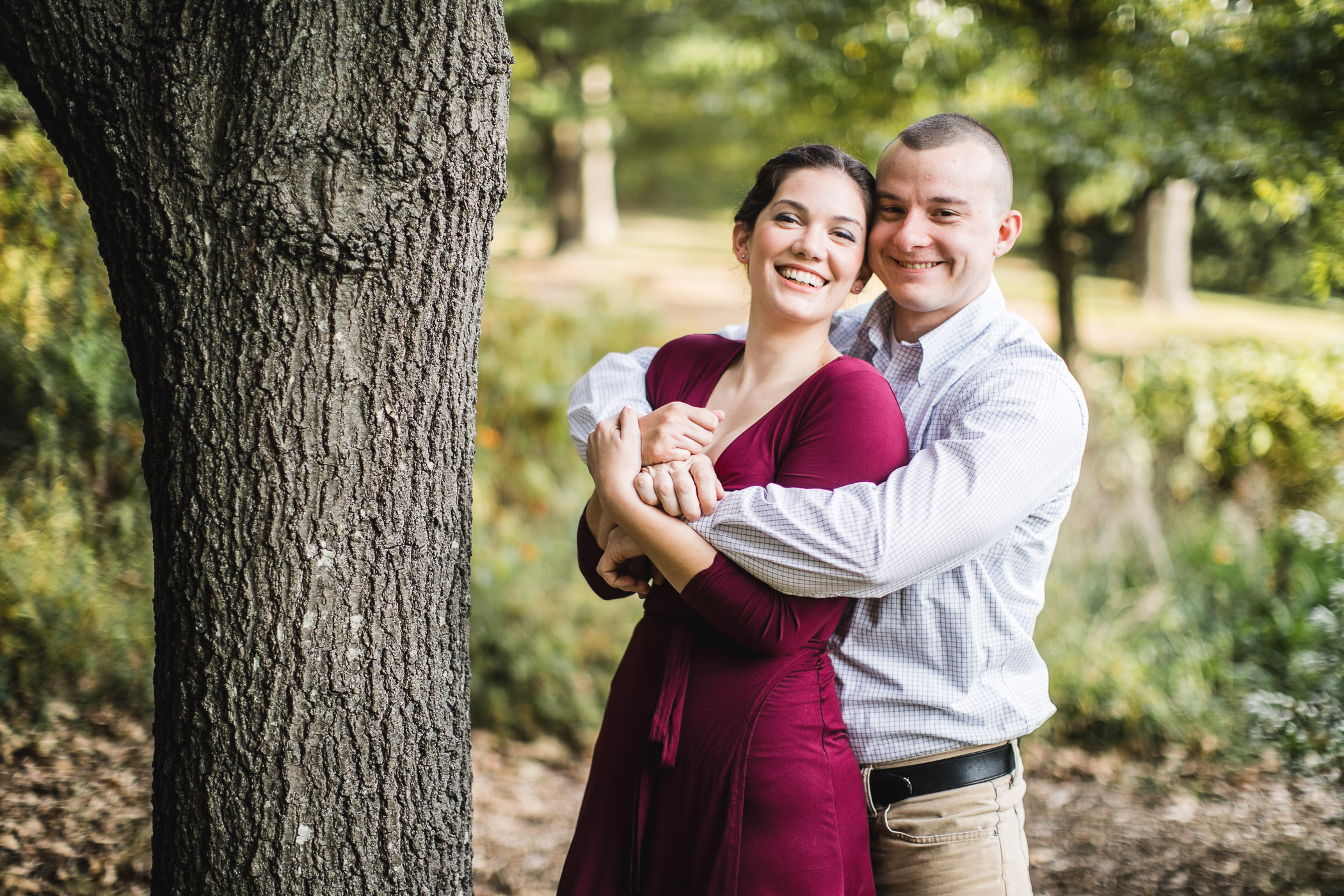 This Couple's Engagement Session in White & Maroon 02