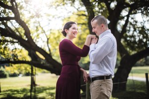 This Couple's Engagement Session in White & Maroon 03
