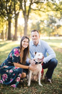 Hand & Hand & Paw Engagement Session on the Streets of Annapolis 02
