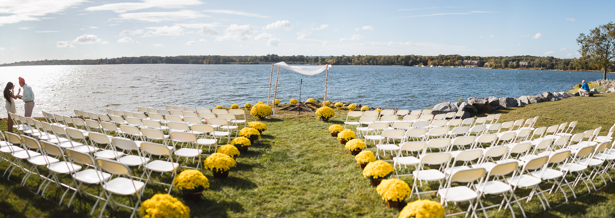 Beautiful Wedding Ceremony Formals at a Private Chesapeake Bay Lighthouse 16