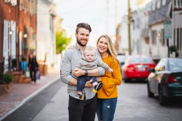 Sunset Family Portraits with Greg on the Streets of Downtown Annapolis 08