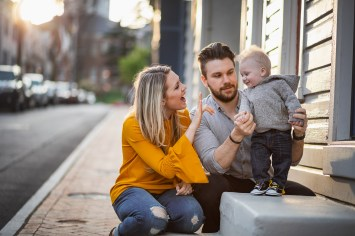 Sunset Family Portraits with Greg on the Streets of Downtown Annapolis 10