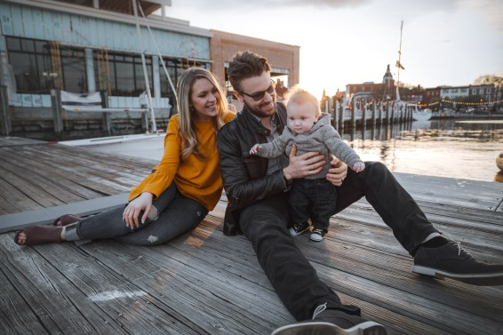Sunset Family Portraits with Greg on the Streets of Downtown Annapolis 21