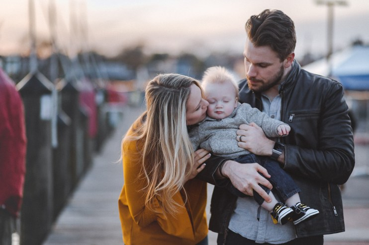 Sunset Family Portraits with Greg on the Streets of Downtown Annapolis 25