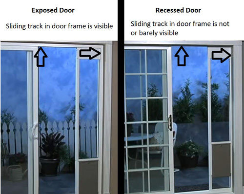 what is a recessed door frame