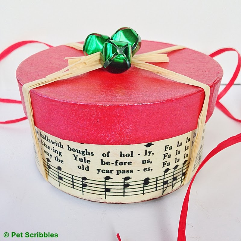 Holiday Gift Box DIY An Easy Decoupage Craft Pet Scribbles