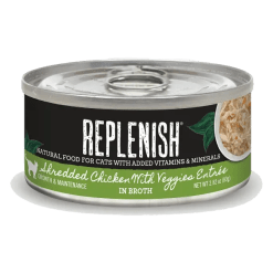 Replenish Shredded Chicken with Veggies Entrée Cat Can Food