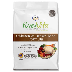 NutriSource Pure Vita Dog Chicken Rice 25lb.