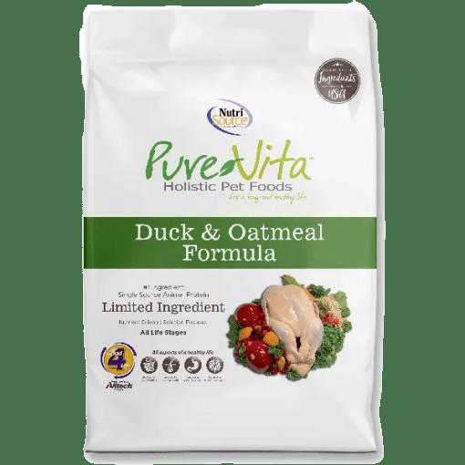 NutriSource Pure Vita Dog Duck Oatmeal 5lb.