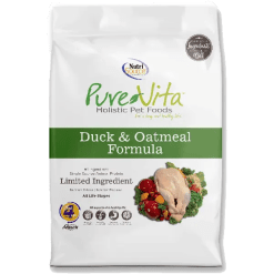 NutriSource Pure Vita Dog Duck Oatmeal 5lb.