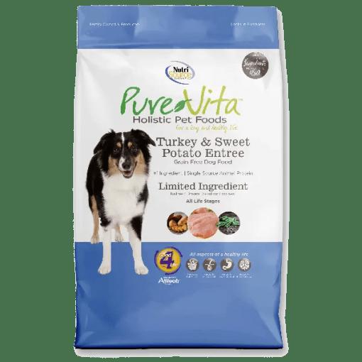 NutriSource Pure Vita Dog Grain Free Turkey Sweet Potato 15lb.