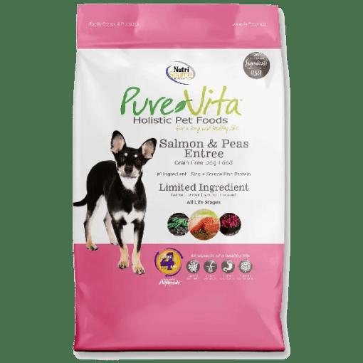 NutriSource Pure Vita Dog Grain Free Salmon Pea 15lb.