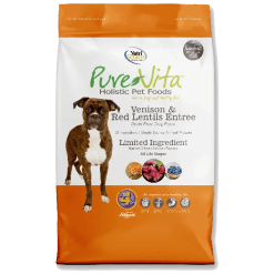 NutriSource Pure Vita Dog Grain Free Venison Red Lentils 25 lb.