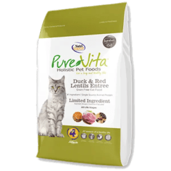 Nutri Source Pure Vita Cat Food, Grain Free, Duck and Red Lentils Entree.