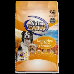 NutriSource Dog Lamb Rice 30 lb.