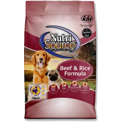 NutriSource Dog Beef Brown Rice 15lb.