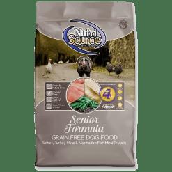 NutriSource Dog Food, Grain Free, Senior Formula.