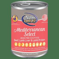 NutriSource Dog Canned Mediterranean 13oz Case.