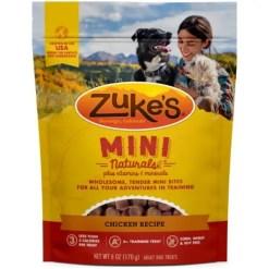 Zuke's Mini Naturals Chicken Recipe Training Dog Treats, 6-oz Bag.