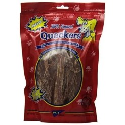 Pet Center Quackers Duck Breast Dog Treats, 8-oz Bag.
