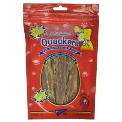 Pet Center Quackers Duck Breast Dog Treats, 3-oz Bag.