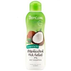 TropiClean Medicated Oatmeal & Tea Tree Dog Shampoo.