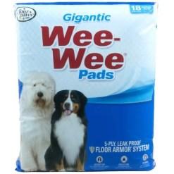 Wee-Wee Absorbent Dog Pads, Gigantic, 18 Pack.