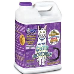 Lucy Pet Products Lavender Scented Clumping Clay Cat Litter, 20-lb Jug.