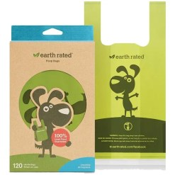 Earth Rated PoopBags Unscented Handle, 120 Bags.