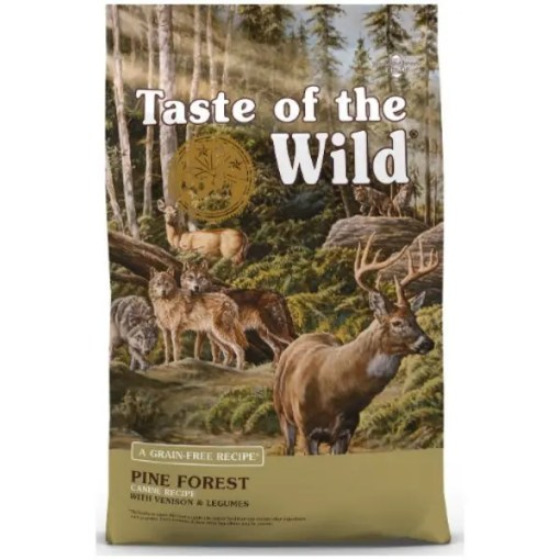 Taste of the Wild Pine Forest Grain-Free Dry Dog Food, 28-lb Bag.