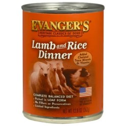 Evanger's Classic Recipes Lamb & Rice Dinner Canned Dog Food, 12.8-oz Can.
