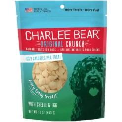 Charlee Bear Cheese & Egg Flavor Dog Treats, 16-oz Bag.