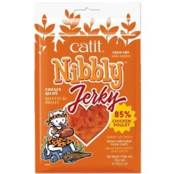 Catit Nibbly Jerky Chicken Cat Treats, 1-oz.