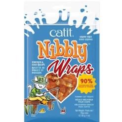 Catit Nibbly Wraps Chicken & Fish Cat Treats, 1-oz.