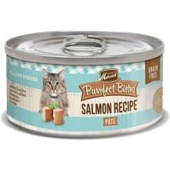 Merrick Purrfect Bistro Grain-Free Salmon Pate Canned Cat Food, 5.5-oz Can.