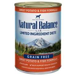 Natural Balance L.I.D. Sweet Potato & Fish Formula Grain-Free Canned Dog Food, 13-oz