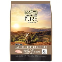 CANIDAE Grain-Free PURE Elements with Chicken Limited Ingredient Diet Dry Cat Food, 5-lb.