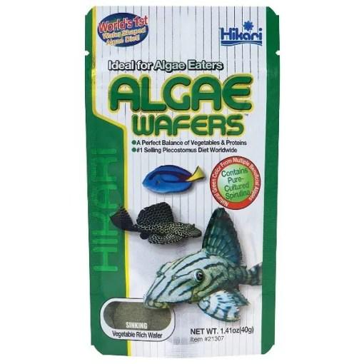 Hikari Algae Wafers Fish Food, 1.41-oz Packet.