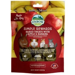 Oxbow Simple Rewards Oven Baked with Apple & Banana Small Animal Treats, 3-oz.