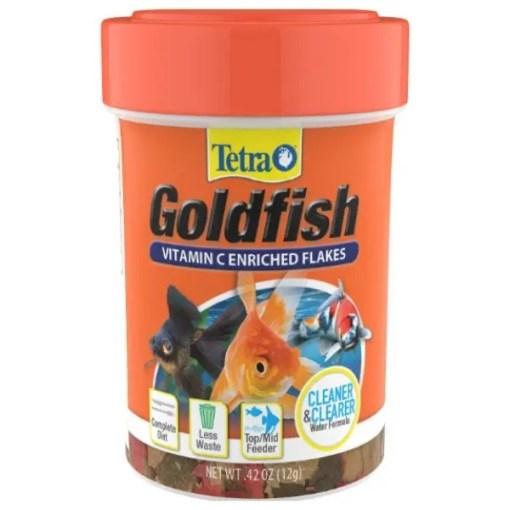 TetraFin Goldfish Flakes Fish Food, .42-oz Jar.