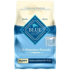 Blue Buffalo Life Protection Formula Puppy Chicken & Brown Rice Recipe Dry Dog Food, 6-lb Bag.