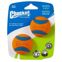 Chuckit! Ultra Rubber Ball Dog Toy, Small, 2 Pack.