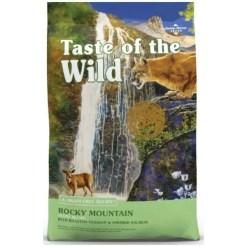 Taste of the Wild Rocky Mountain Grain-Free Dry Cat Food, 5-lb Bag.
