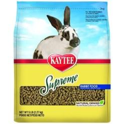 Kaytee Supreme Fortified Daily Diet Rabbit Food, 5-lb Bag.